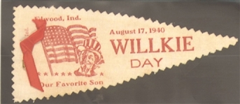 Willkie Day Elwood, Indiana, Mini Pennant