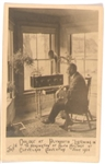 Coolidge Father at Home Postcard