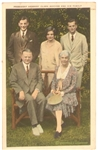 Hoover Family Postcard