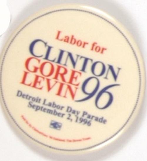 Lot Detail Clinton Gore Levin Detroit Labor Day Parade