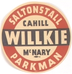 Willkie, Saltonstall and Others Massachusetts Rare Paper Sticker