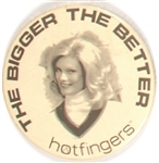 """Hotfingers"" Gloves Advertising Pin"