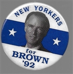 New Yorkers for Jerry Brown