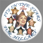 HIllary Clinton Its in the Stars 2008 Pin