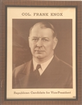 Col. Frank Knox for Vice President