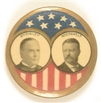 McKinley, Roosevelt Rare Stars and Stripes Jugate