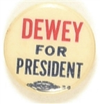 Scarce Dewey for President Universal Pin