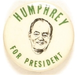 Humphrey for President Small Celluloid