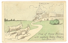 Bryan and Taft Billy Goats Postcard