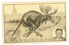 Roosevelt Bull Moose Hat in the Ring Postcard