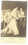 Mrs. Roosevelt and Sons Postcard