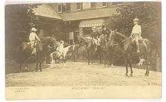 Theodore Roosevelt Family Postcard