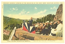 Franking Roosevelt Great Smoky Mountains Postcard