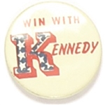 Win With Kennedy Word Pin