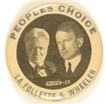 LaFollette-Wheeler Peoples Choice