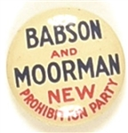 Babson and Moorman New Prohibition Party