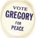 Vote Gregory for Peace