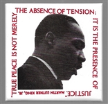 King Absence of Tension Memorial Pin