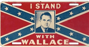 Stand With Wallace Confederate Flag License