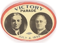 FDR, Curley Victory Parade