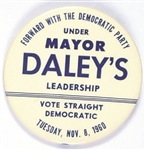 Kennedy, Chicago Mayor Richard Daley 1960 Election Day Pin
