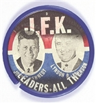 Rare Kennedy, Johnson Our Leaders All the Way Flasher