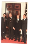 Reagan Four Presidents Postcard