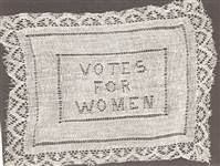 Votes for Women Cloth Doily
