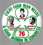 Carter Every Good Man Needs a Good Woman New Jersey Pin