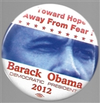 Obama Toward Hope Away From Fear