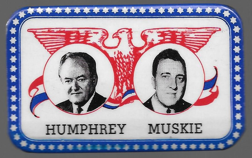 Humphrey Muskie Fargo Rubber Stamp Jugate
