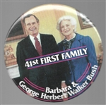 George and Barbara Bush 41st First Family