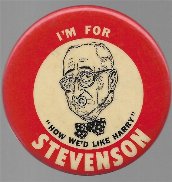 "Stevenson ""How We Like Harry"" Pin"
