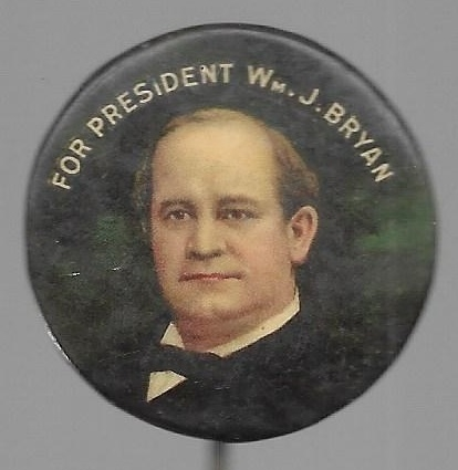 William Jennings Bryan Colorful Celluloid
