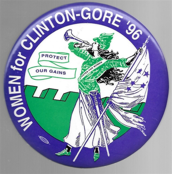 Women for Clinton-Gore Suffrage Trumpeter