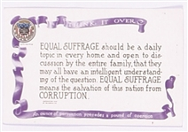 Votes for Women Suffrage Corruption Postcard