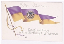 Equal Suffrage Birthright of Women Postcard
