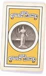 Votes For Women Playing Card, Queen of Hearts