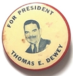 Thomas E. Dewey for President Red, White and Blue Celluloid