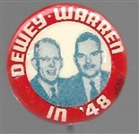 Dewey and Warren in '48 Smaller Size Celluloid Jugate