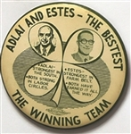 Adlai and Estes the Bestest Four Leaf Clover Pin