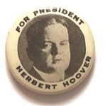 Hoover for President Picture pin