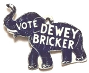 Vote Dewey, Bricker Elephant Tab
