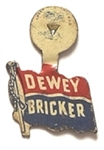 Dewey and Bricker 1944 Litho Tab