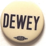 Dewey 1 Inch Celluloid Name Pin