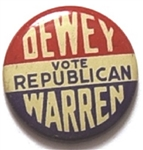 Dewey, Warren Vote Republican