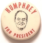 Humphrey for President 1 Inch Picture Pin