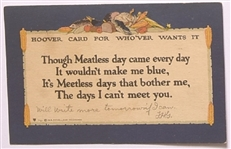 "Hoover ""Meatless Day"" Postcard"
