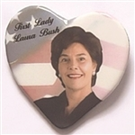 First Lady Laura Bush Heart Pin