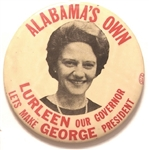 Lurleen Wallace Alabama Governor, George for President